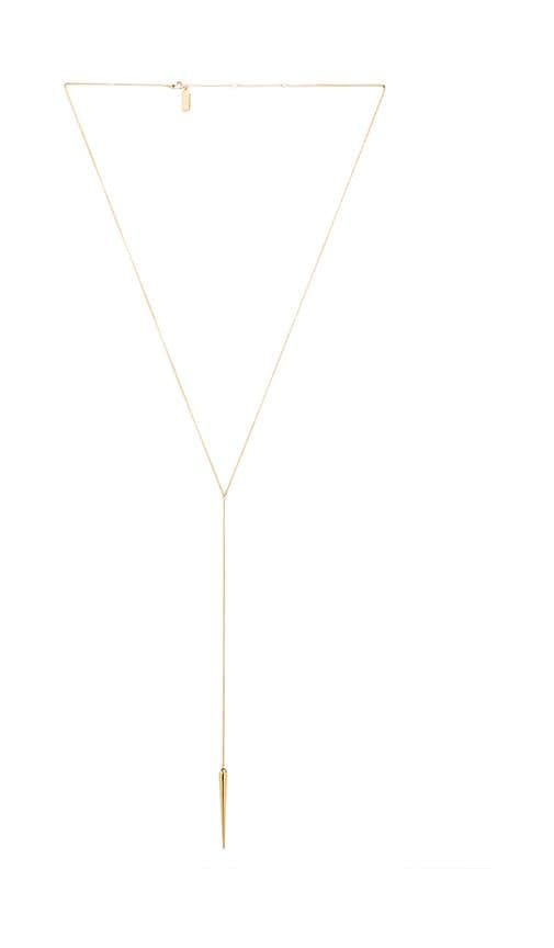 Melanie Auld Spike Lariat Necklace in Metallic Gold