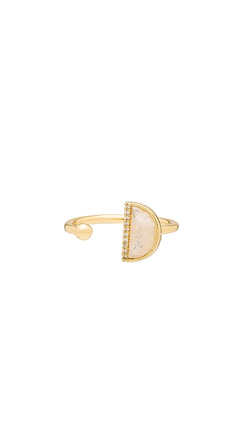 Melanie Auld Half Circle Ring in Moonstone