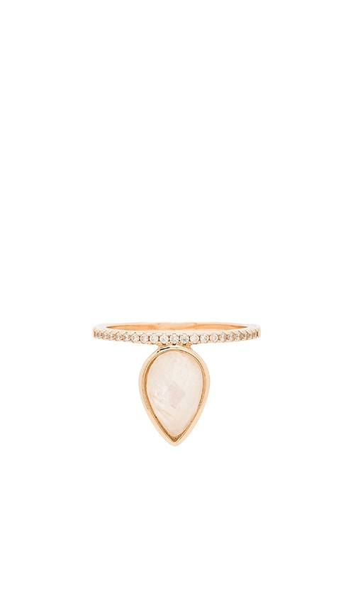 Melanie Auld Teardrop Stacking Ring in Metallic Gold