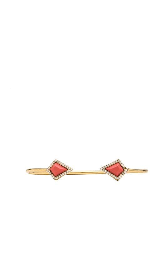 Pave Stone Diamond Cuff