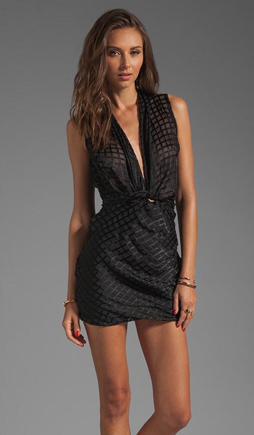 Onyx Wrap Mini Dress