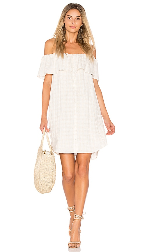 maven west Perry Off Shoulder Dress in Cream