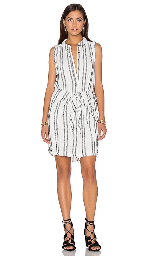 maven west Wrap Tie Dress in White