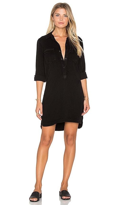maven west Cargo Pocket Shift Dress in Black