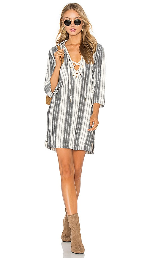 maven west Lace Up Dress in Grey