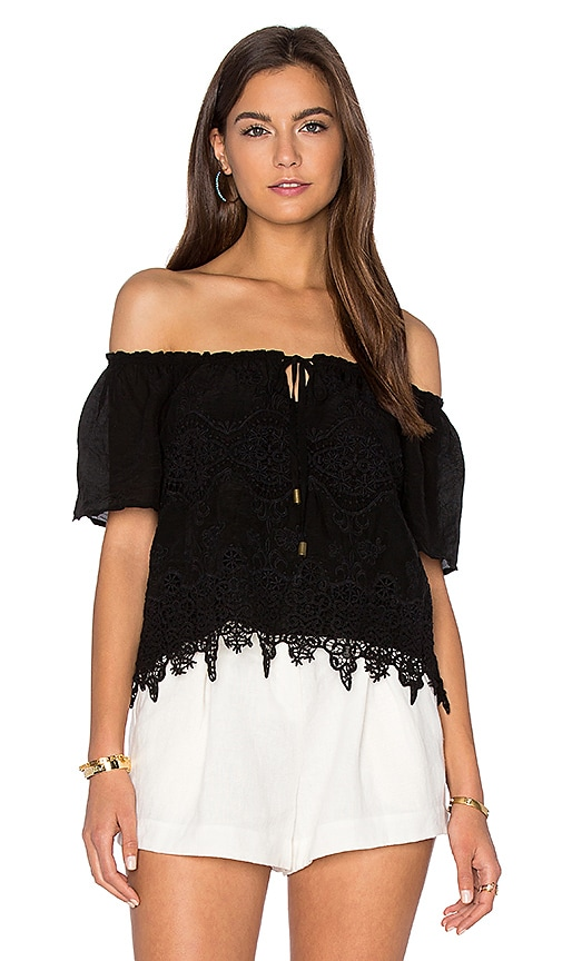 maven west Off Shoulder Top in Black