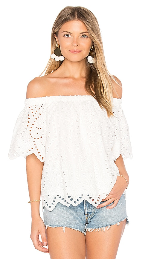 maven west Rosie Top in White