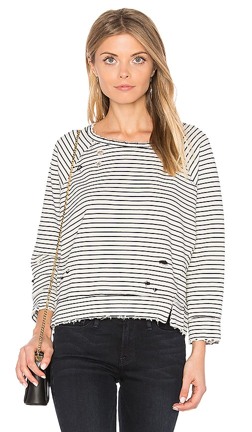 MCGUIRE Ski & Sea Sweatshirt in Black & White