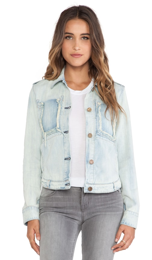 Fray Pocket Jean Jacket