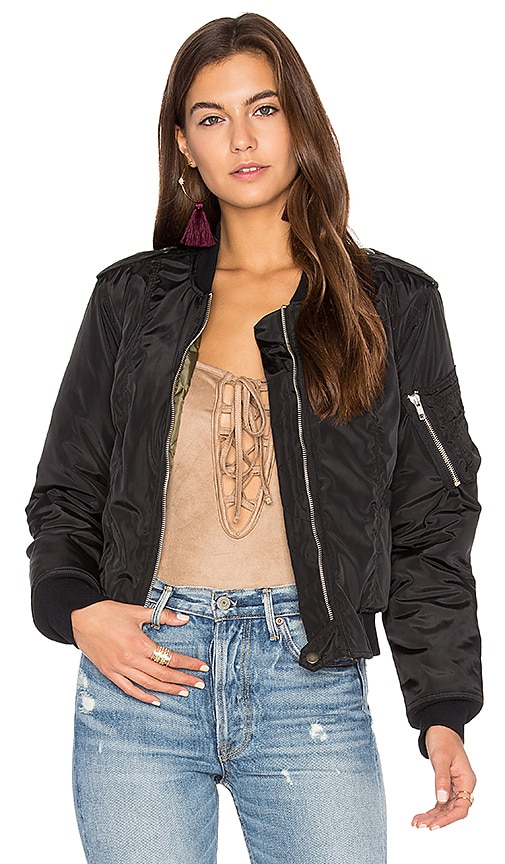 MCGUIRE Bambina Bomber Jacket in Black