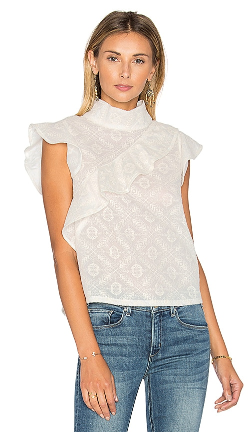 MCGUIRE Sorbonne Ruffle Top in Ivory
