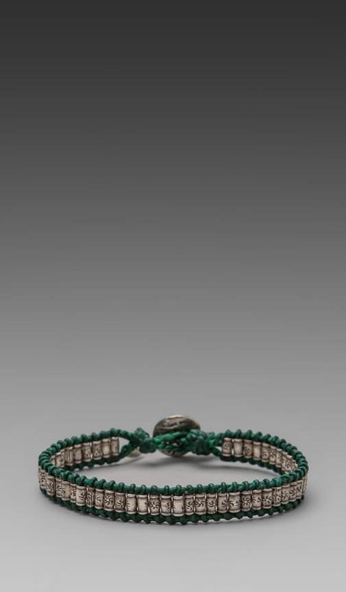 Sterling Sliver Stamped Bead Bracelet