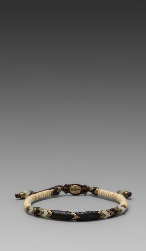 Tribal Style African Glass and Bone Bracelet