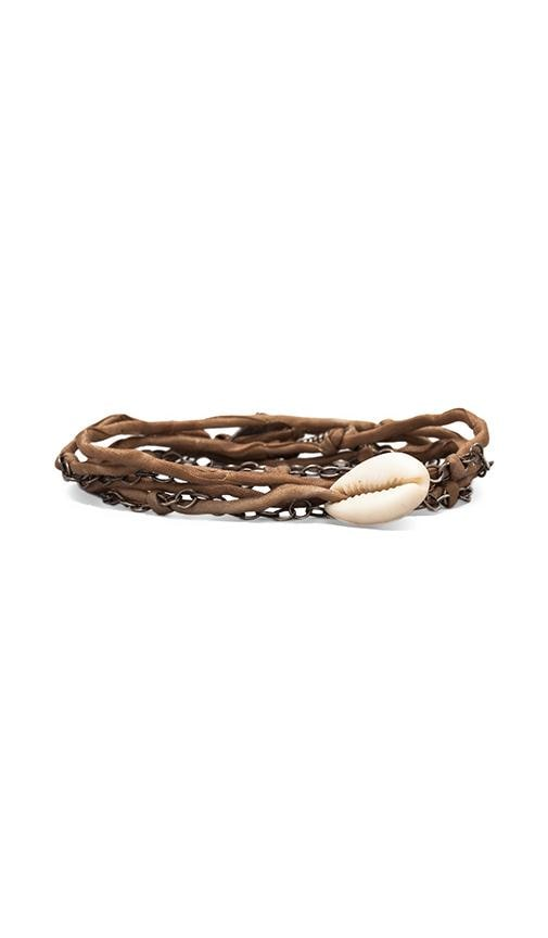Silk Chain and Shell Wrap Bracelet
