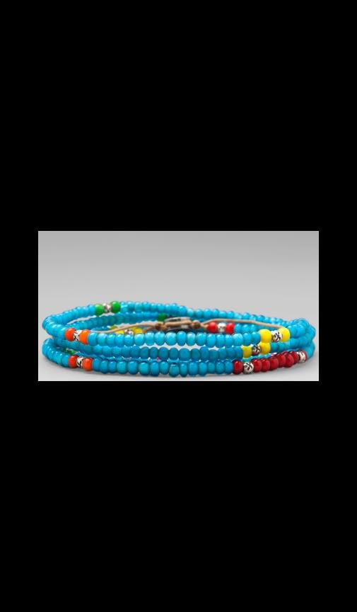 4-Wrap Mini African Glass Beads Bracelet