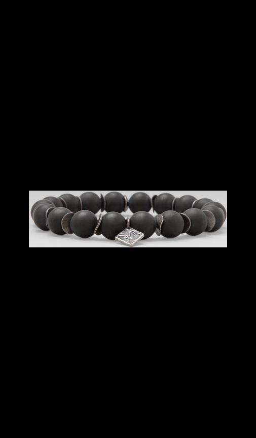 Onyx and Ox Discs Beaded Bracelet