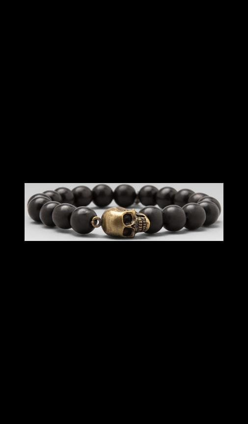 Horn Beaded Brass Skull Bracelet