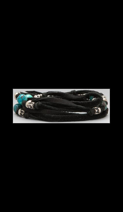 5-Layer Leather Skull Wrap Bracelet