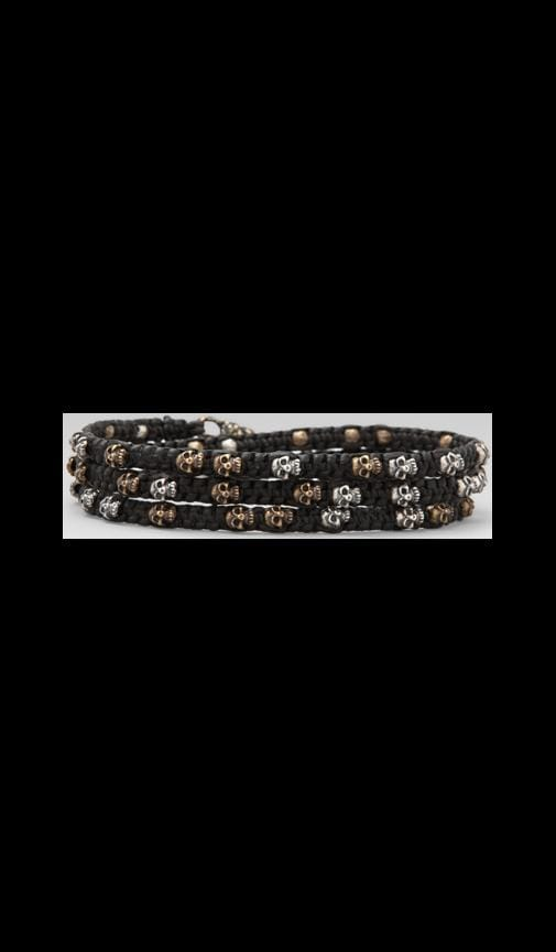 Three Wrap Mixed Skulls Bracelet