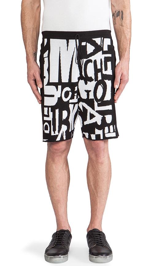 Letter Jacquard Shorts