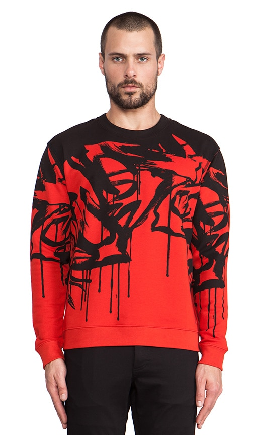 Dripping Graphic Pullover