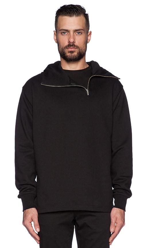 d601ffa5 McQ Alexander McQueen Zip Hoodie in Darkest Black | REVOLVE