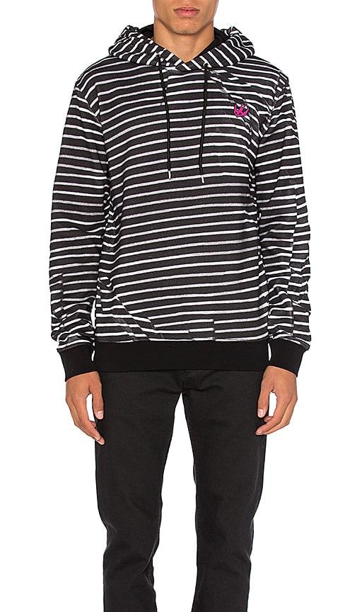 McQ Alexander McQueen Clean Hoodie in Broken Stripe Black