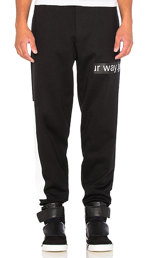 McQ Alexander McQueen Dart Sweatpants in Black & White