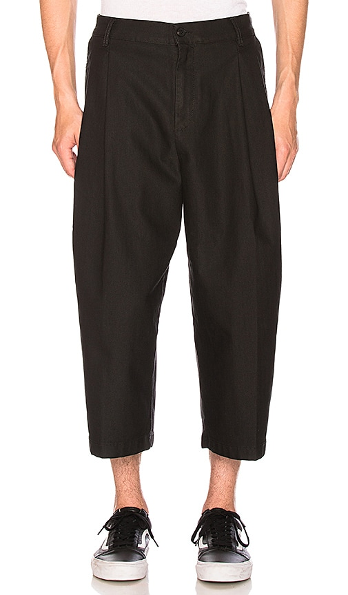 McQ Alexander McQueen 3/4 Shaped Trouser in Black