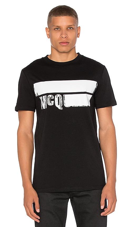 McQ Alexander McQueen S/S Crew Tee in Black & White