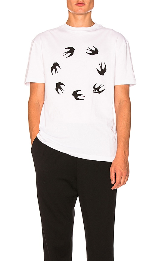 McQ Alexander McQueen Dropped Shoulder Tee in White