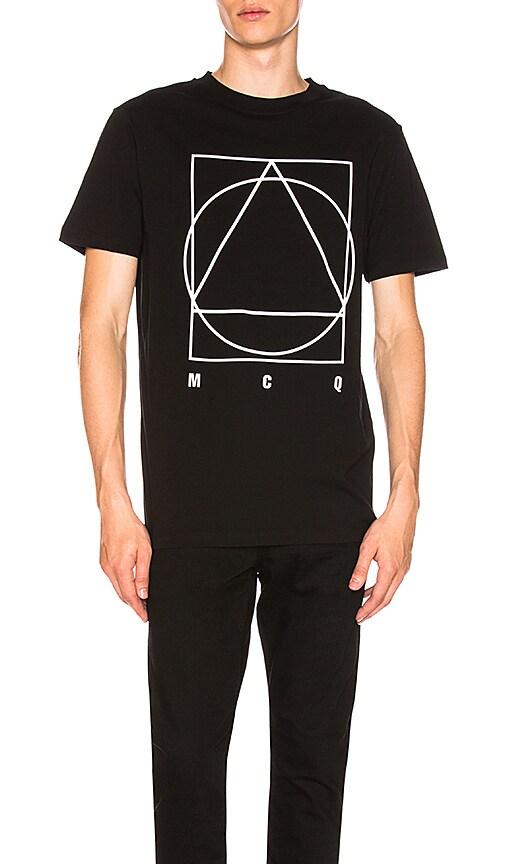 McQ Alexander McQueen Short Sleeve Crew Tee in Black