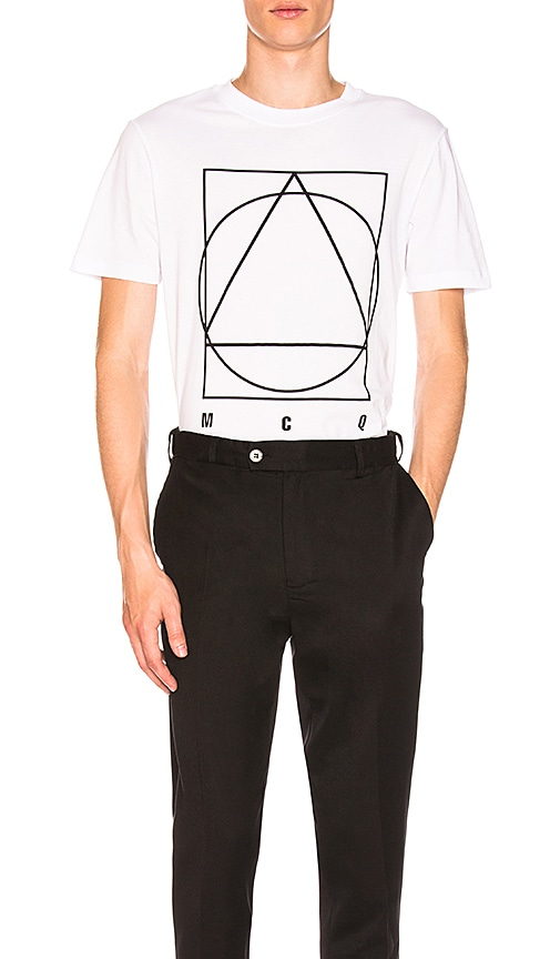 McQ Alexander McQueen Short Sleeve Crew Tee in White