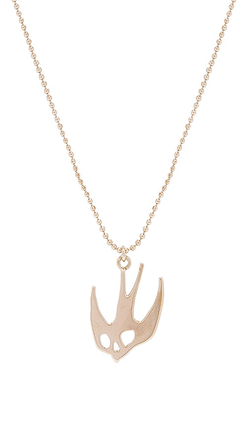 Mcq alexander mcqueen swallow pendant in gold revolve swallow pendant mozeypictures Gallery