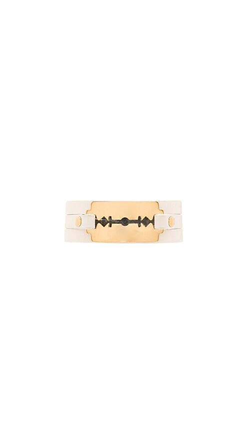McQ Alexander McQueen Razor Triple Wrap Bracelet in White