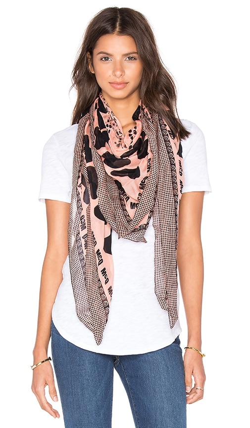 McQ Alexander McQueen Mcq Hearts And Bolts Scarf in Paloda Pink