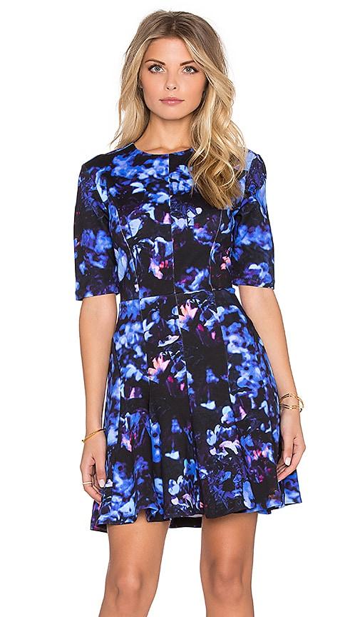 McQ Alexander McQueen Long Sleeve Flirty Dress in Floral Print