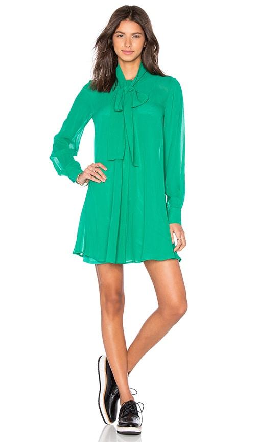 McQ Alexander McQueen Pussybow Dress in Green