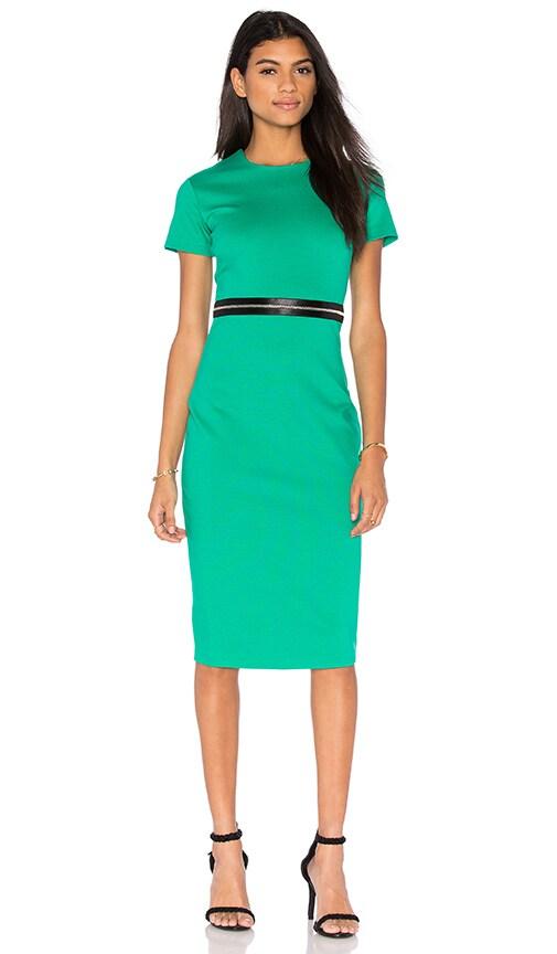 McQ Alexander McQueen Bodycon Zip Dress in Emerald