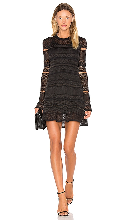 McQ Alexander McQueen Lace Skater Dress in Black