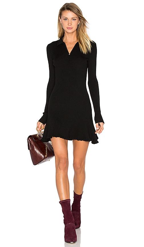 McQ Alexander McQueen Peplum Rid Dress in Black