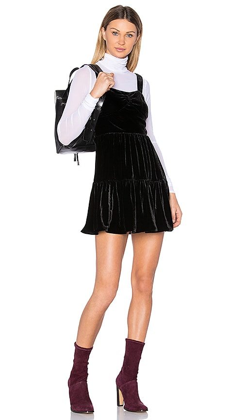 McQ Alexander McQueen Long Sleeve Panel Dress in Black