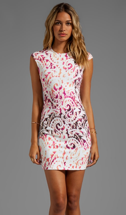 Interlock Lace Print Dress
