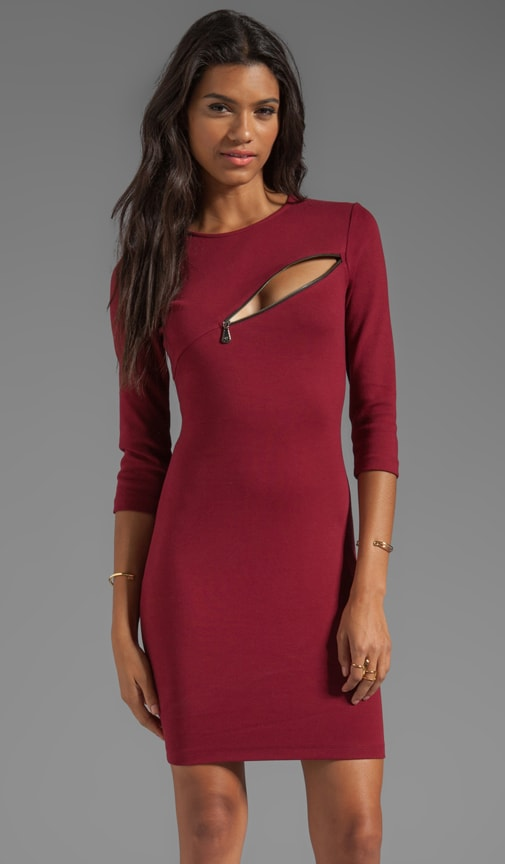 3/4 Sleeve Zip Dress