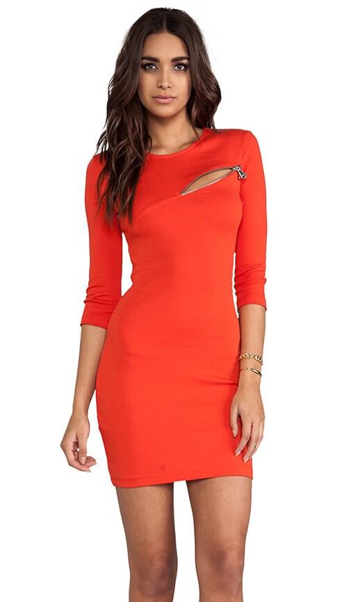 3/4 Sleeve Zip Dress