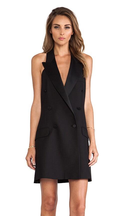 Tuxedo Halter Dress