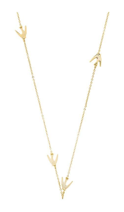 Asymmetric Swallow Necklace