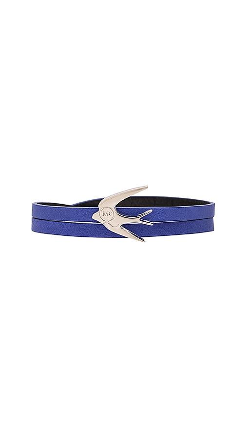 McQ Alexander McQueen Swallow Mini Wrap Bracelet in Cobalt