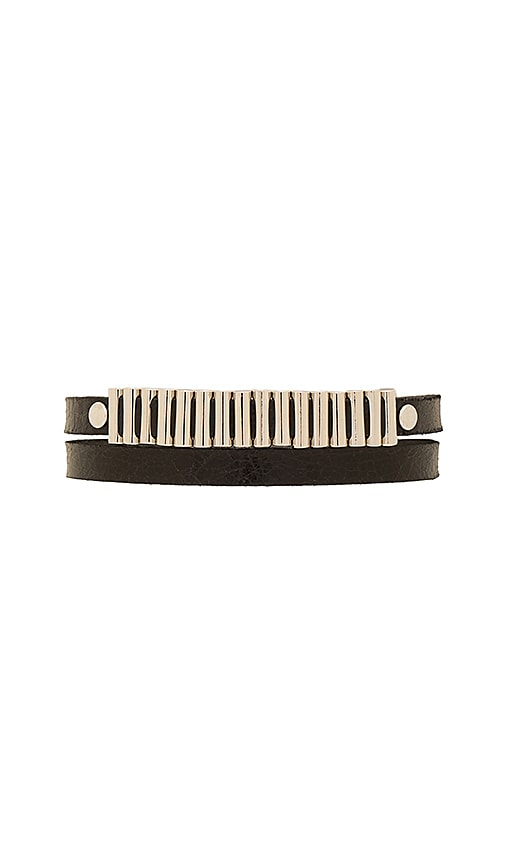 McQ Alexander McQueen Mini Bullets Wrap Bracelet in Black
