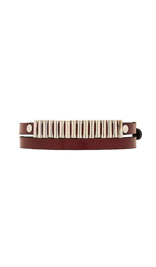 McQ Alexander McQueen Mini Bullets Wrap Bracelet in Burgundy